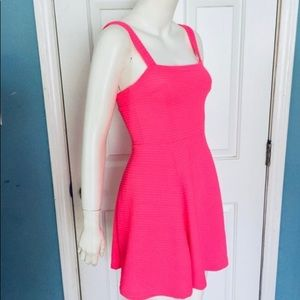 Divided by H&M neon pink ribbed dress